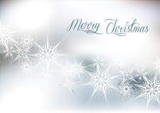 Fondo de plata de la nieve de la Navidad Fotografía de archivo libre de regalías