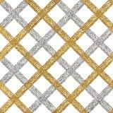 Fondo de plata de oro inconsútil de rayas, de líneas o de movimientos diagonales Imagenes de archivo