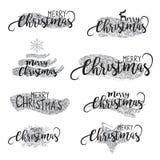 Fondo de plata elegante de los cepillos de la Navidad con las estrellas que brillan fondo del oro brillante, adentro Fotos de archivo libres de regalías