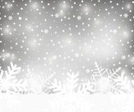Fondo de plata de la Navidad stock de ilustración