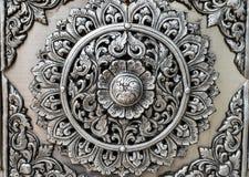 Fondo de plata tailandés de la textura del arte imágenes de archivo libres de regalías