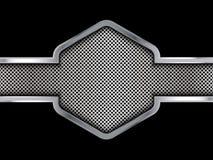 Fondo de plata y negro del metal ejemplo abstracto del vector Fotos de archivo libres de regalías