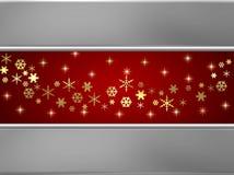 Fondo de plata y rojo de la nieve stock de ilustración