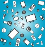 Fondo de productos electrónico inconsútil
