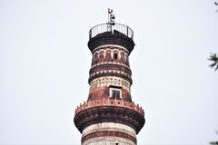 Fondo de Qutub Minar fotografía de archivo libre de regalías