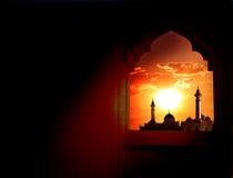 Fondo de Ramadan Kareem imagenes de archivo