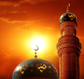 Fondo de Ramadan Kareem Eid Mubarak de saludo islámico carda a las FO imágenes de archivo libres de regalías
