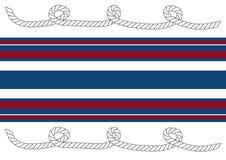 Fondo de rayas rojas, blancas y azules con las cuerdas ilustración del vector