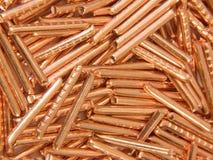 Fondo de rebanadas de cobre Imagenes de archivo