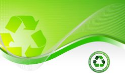 Fondo de reciclaje ambiental verde Foto de archivo libre de regalías