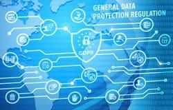 Fondo de regla de la notificación de la protección de datos general de GDPR Fotografía de archivo libre de regalías