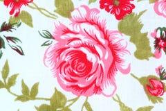 Fondo de Rose Fabric Fotografía de archivo libre de regalías