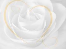Fondo de Rose y de los corazones Foto de archivo libre de regalías
