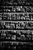 Fondo de símbolos de madera chinos imagen de archivo