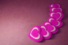Fondo de saludo lamentable de Valentine Love del libro de recuerdos de los corazones, XXX Imagenes de archivo