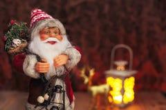 Fondo de Santa Claus de la Navidad Fotografía de archivo