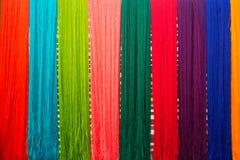 Fondo de seda del hilo Foto de archivo libre de regalías