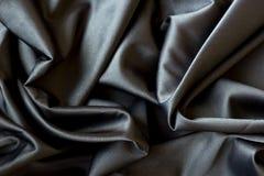 Fondo de seda negro Fotos de archivo libres de regalías
