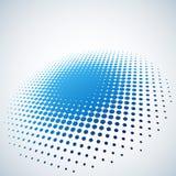 Fondo de semitono azul abstracto del punto Fotografía de archivo libre de regalías