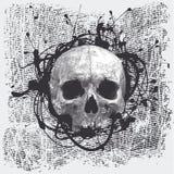 Fondo de semitono con un cráneo Imagen de archivo libre de regalías