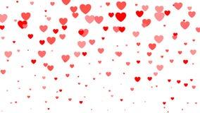 Fondo de semitono del día del ` s de la tarjeta del día de San Valentín del corazón Corazones rojos y rosados en blanco Ilustraci Fotografía de archivo