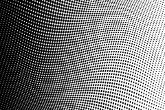 Fondo de semitono ondulado Modelo punteado cómico estilo del arte pop El contexto con los círculos, puntos, rondas diseña el elem stock de ilustración