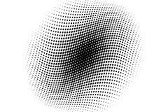 Fondo de semitono ondulado Modelo punteado cómico estilo del arte pop El contexto con los círculos, puntos, rondas diseña el elem Fotografía de archivo