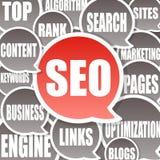 Fondo de SEO - optimización del Search Engine ilustración del vector