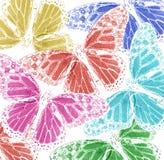 Fondo de siluetas multicoloras Fotos de archivo libres de regalías
