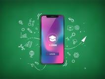 Fondo de Smartphone High Tech stock de ilustración