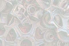 Fondo de Steampunk, piezas de la máquina, engranajes grandes y cadenas de las máquinas y de los tractores fotografía de archivo
