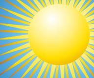 Fondo de Sun con los rayos Fotografía de archivo libre de regalías