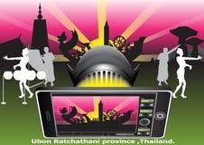 Fondo de Tailandia del festival de la cera Imagenes de archivo