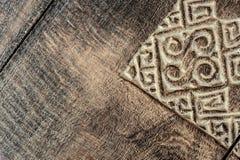 Fondo de talla de madera de la textura ilustración del vector