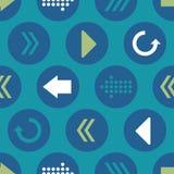 Fondo de Teal Arrow Circles Seamless Pattern del verde azul del vector libre illustration
