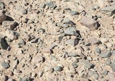 Fondo de tierra del desierto pedregoso Fotos de archivo