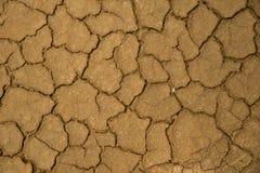 Fondo de tierra secado de la textura del suelo agrietado de la tierra Fotografía de archivo