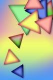 Fondo de triángulos multicolores Imágenes de archivo libres de regalías