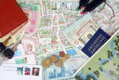 Fondo de un conjunto del viajero Foto de archivo libre de regalías