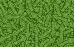 Fondo de una variedad de flechas verdes fotografía de archivo libre de regalías