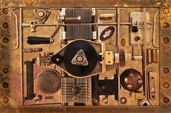 Fondo de una variedad de piezas de metal fotos de archivo libres de regalías