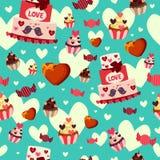 Fondo de Valentine Day Wallpaper Seamless Pattern Imagen de archivo