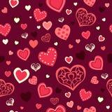 Fondo de Valentine Day Wallpaper Seamless Pattern Foto de archivo