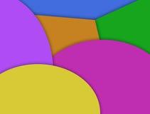 Fondo de varias capas del efecto de la forma geométrica colorida Imágenes de archivo libres de regalías