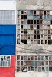 Fondo de ventanas rotas viejas Imagen de archivo