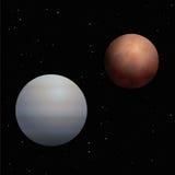 Fondo de Venus Mars Planets Cosmos Black ilustración del vector