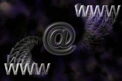 Fondo de WWW y del email. Imagen de archivo libre de regalías