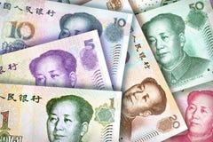 Fondo de Yuan del chino Fotografía de archivo