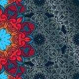 Fondo decorativo abstracto Ornamento con los elementos del mosaico Foto de archivo libre de regalías