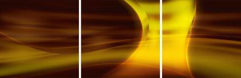 Fondo decorativo abstracto - tríptico Imagenes de archivo
